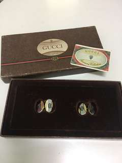 Vintage Gucci cufflinks (year 1983 made)