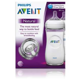 Philips Avent Natural Milk Bottle 330ml 10 oz (Twin Pack)