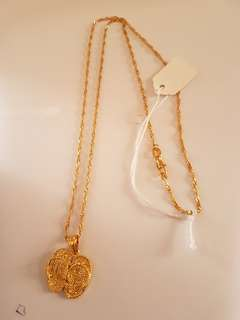 Necklace with slippers pendant