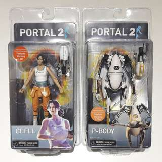Portal 2 Chell and P-Body set of two - Neca