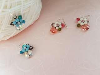 Handmade Swarovski Dangling Earrings