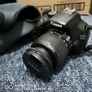 Canon 1100D with lens and 8gb memory