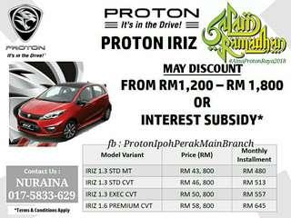 Proton Iriz 2018 (Fast Loan)