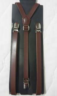 Dark Brown suspender braces 15mm