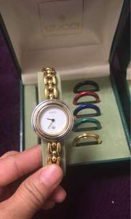 Gucci complete set wd ring AUNTHENTIC