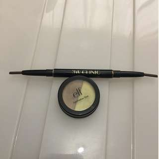 3W CLINIC Eyebrow Pencil / ELF Eyeshadow Duo