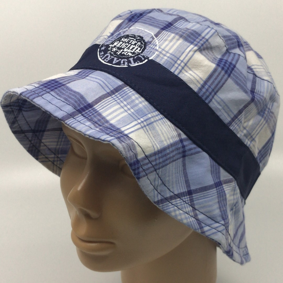 a1386da196163 男童漁夫帽Boy s 100% cotton checker bucket hat with print logo in ...