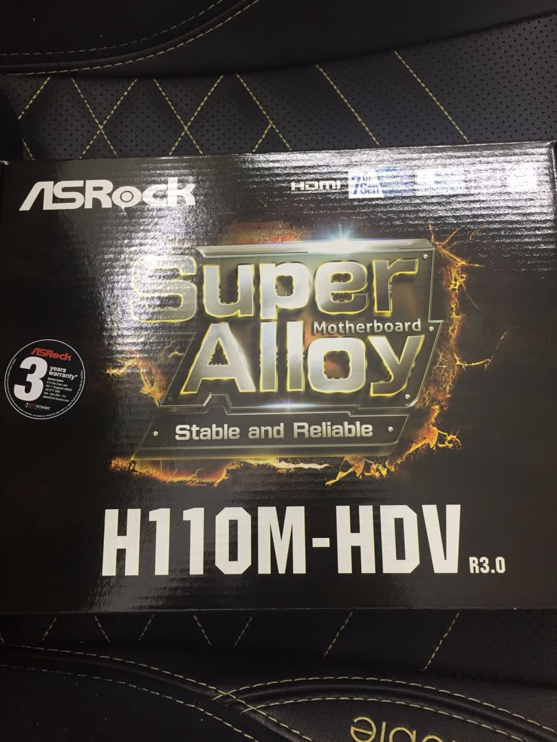 Asrock H110m Hdv Motherboard Electronics Computer Parts Ddr4 Socket 1151 Accessories On Carousell