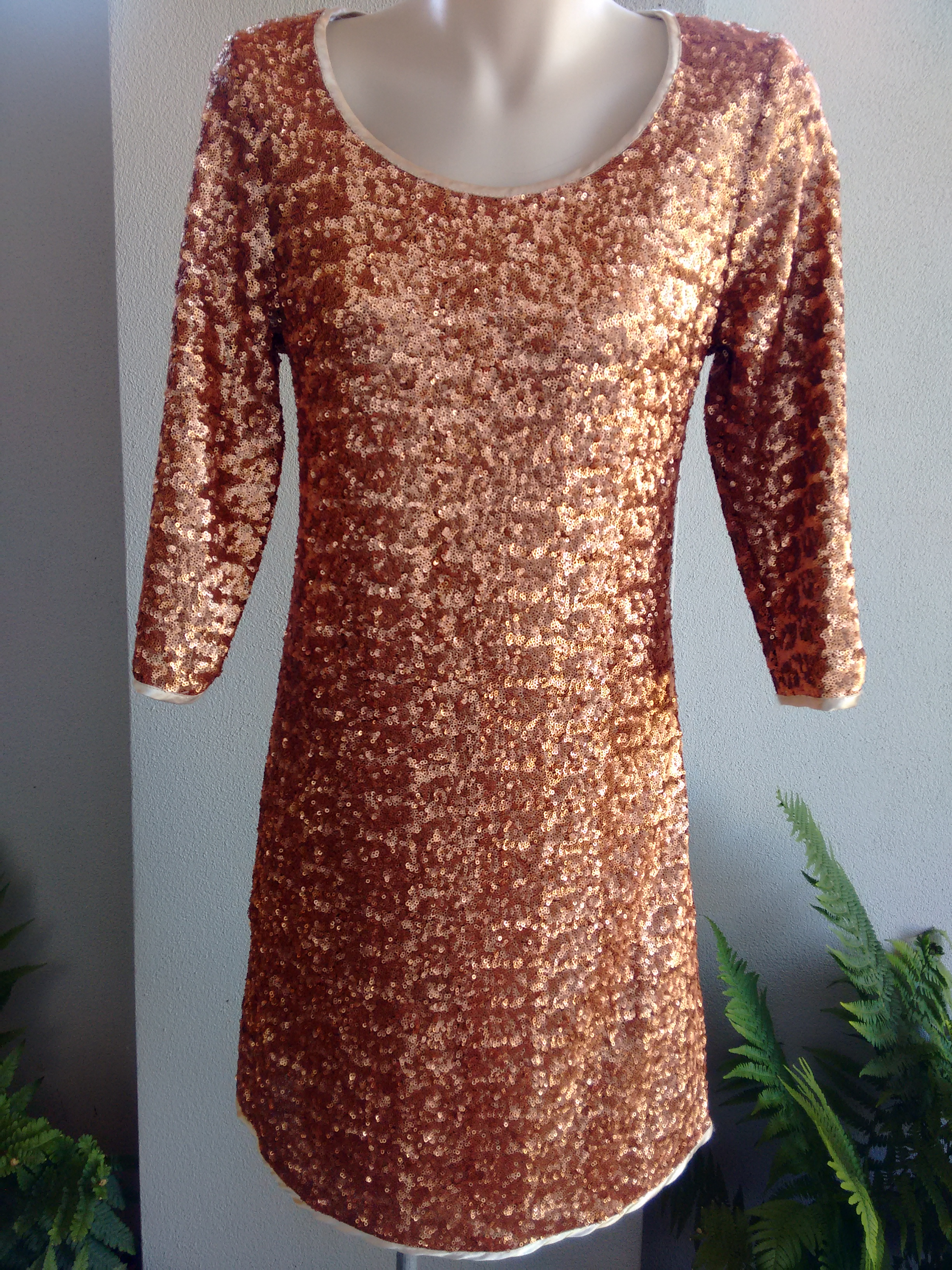 Augustine rose gold sequin dress-xs