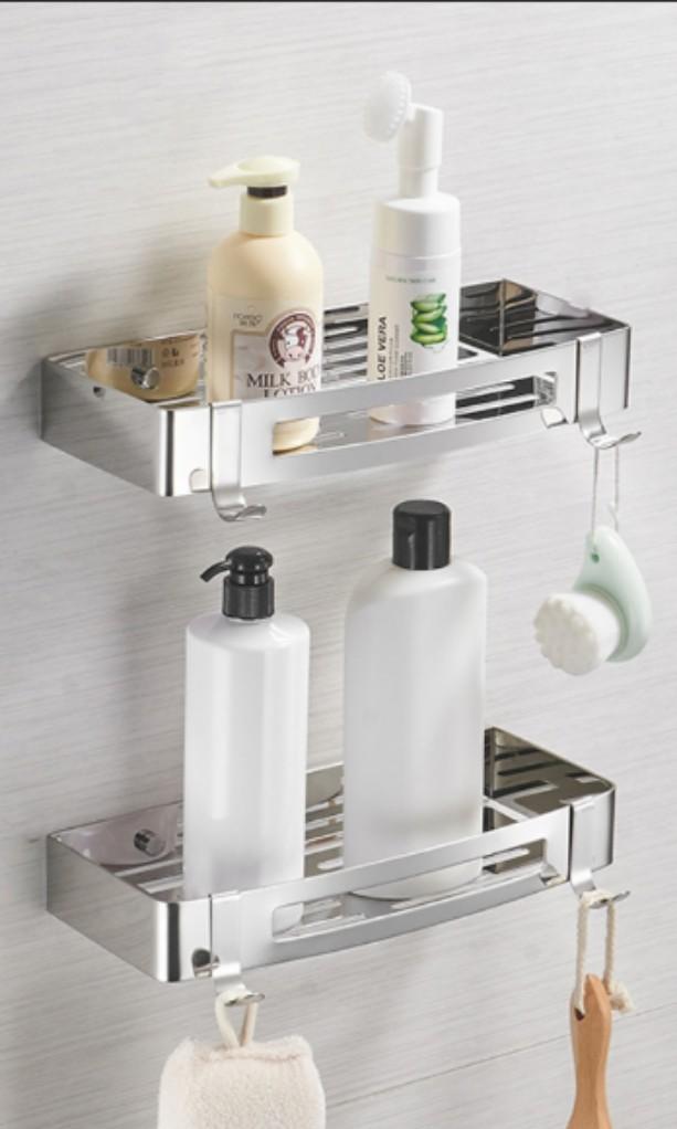 Bathroom Rack Wall Mounted Stainless Steel Shelf Furniture