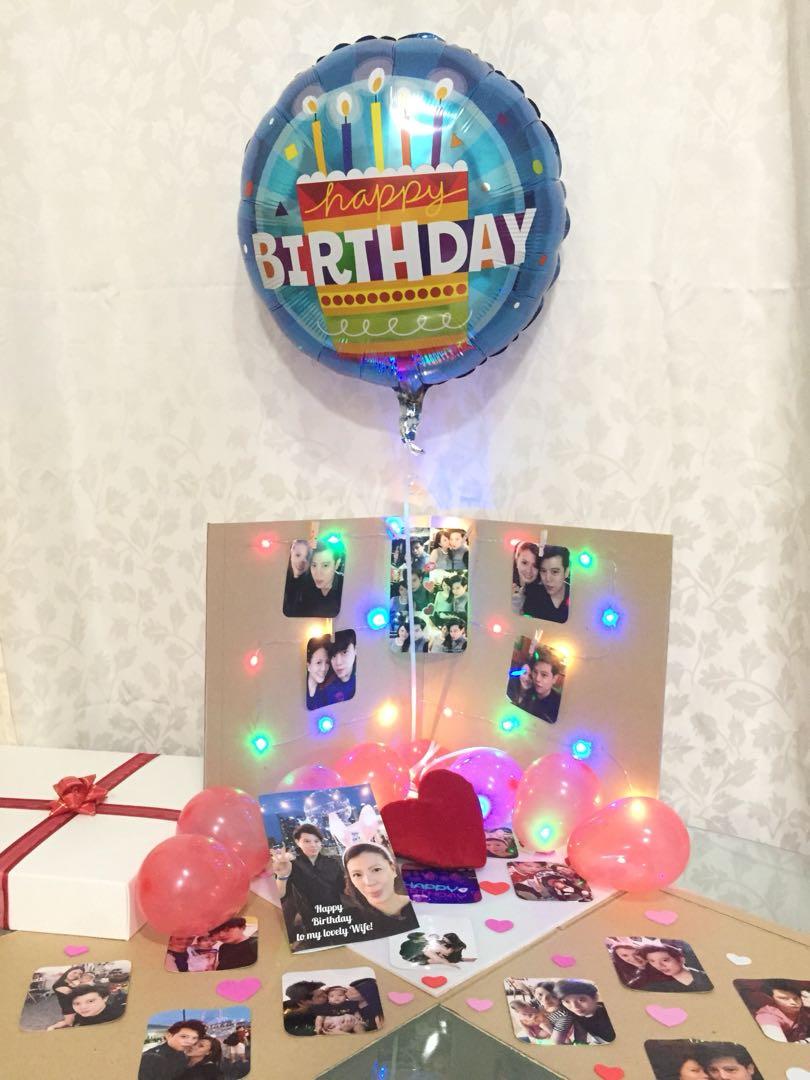 Birthday Present Surprise Balloon Box Design Craft Others On Carousell