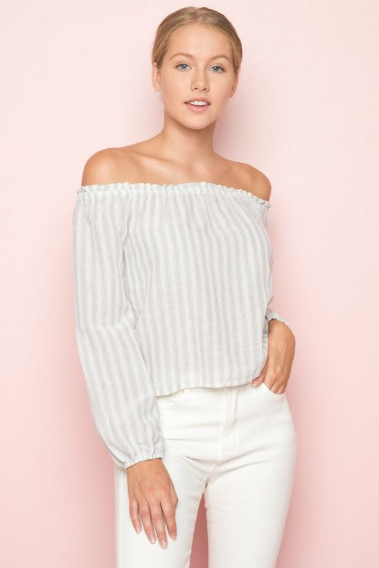 ea37b32df9371 brandy melville maura off shoulder top