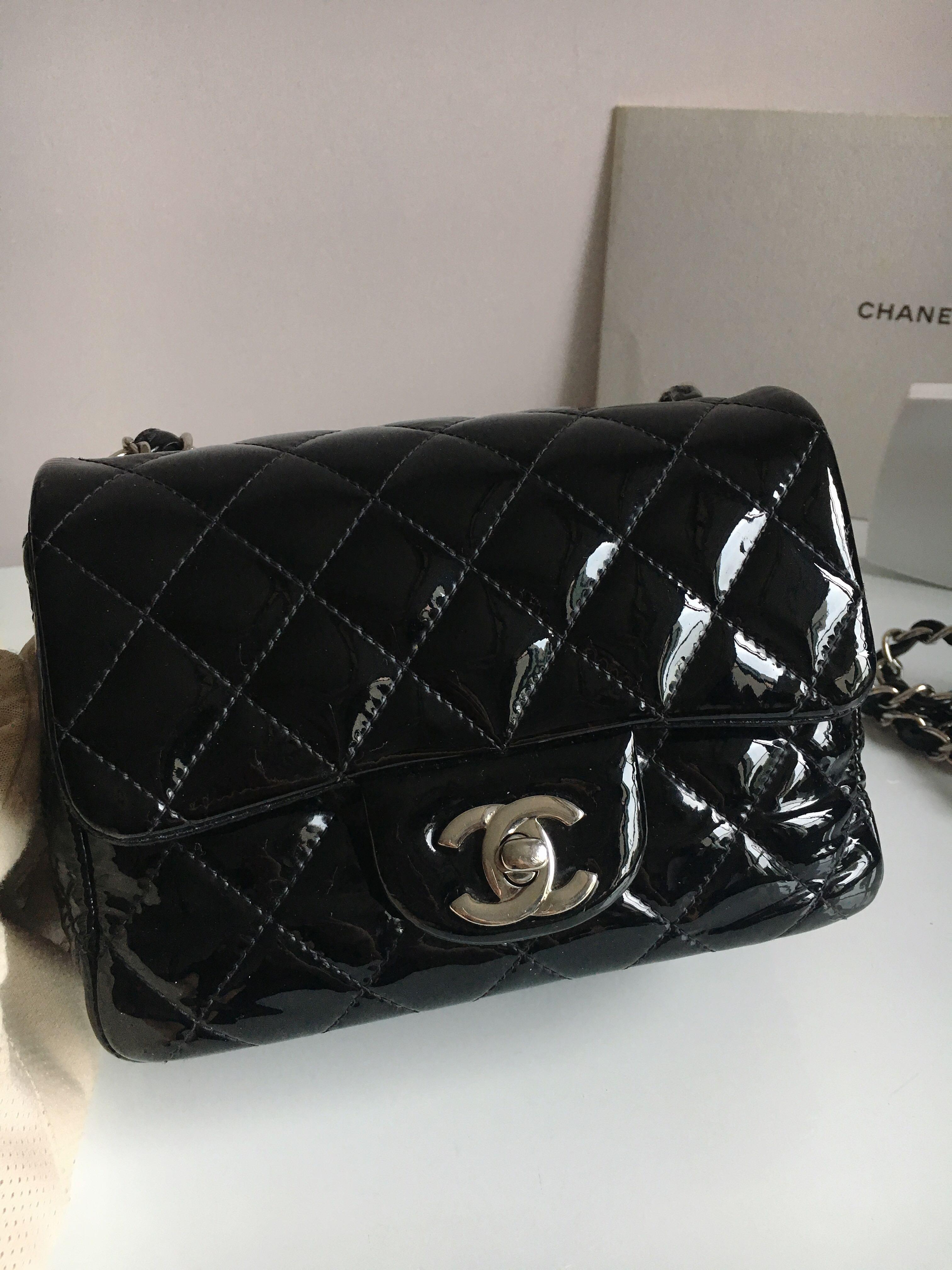 c4e8adb71325 Chanel Mini Square Chain Bag Crossbody 17cm