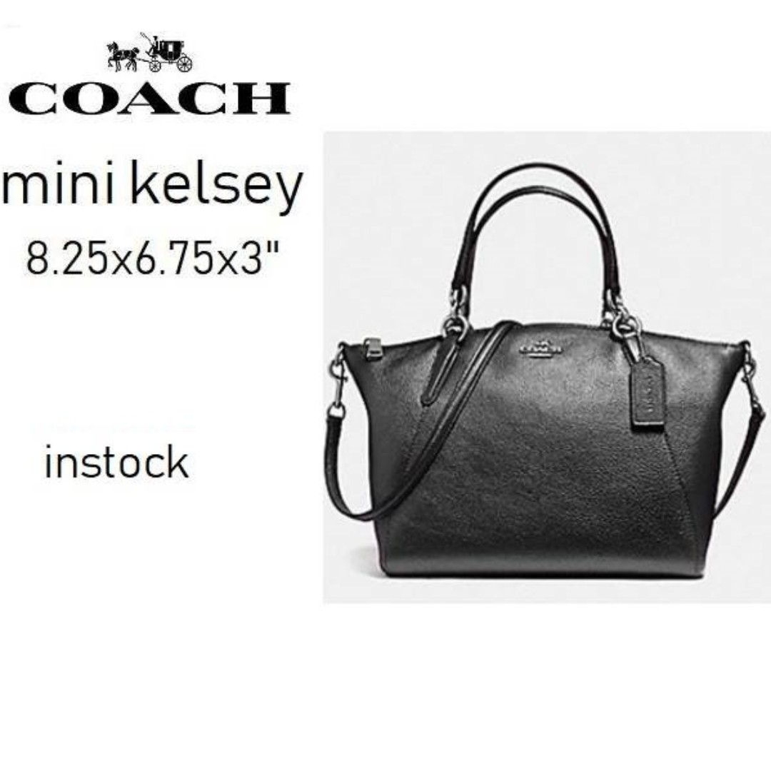 f207d62eafea ... promo code coach f57563 mini kelsey satchel in pebble leather luxury  bags wallets on carousell 0324f