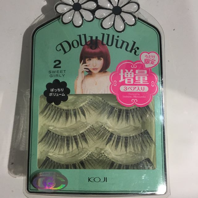 3da40138645 Dolly wink Lashes No.2 Sweet girly, Health & Beauty, Makeup on Carousell