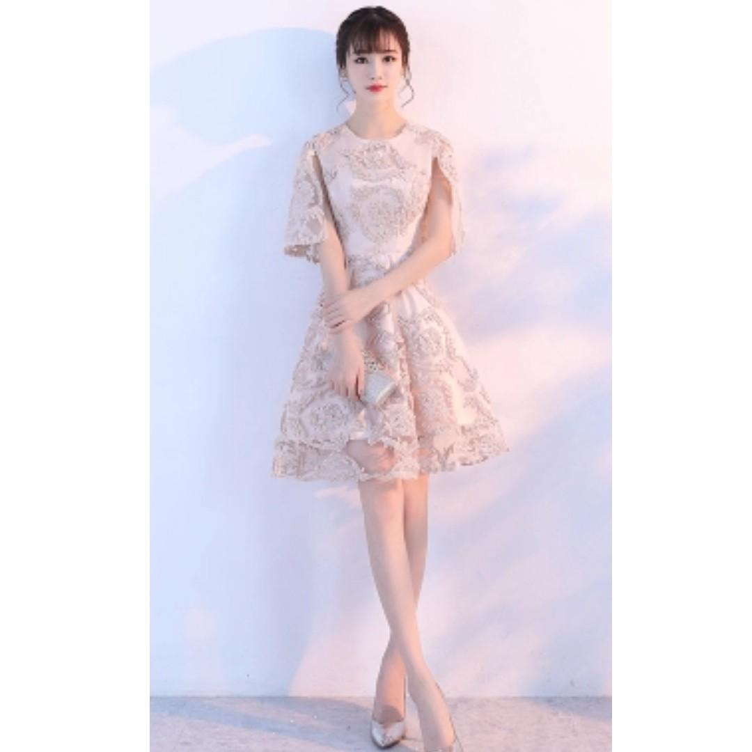 613ff0a053e Dress Korean Champagne Short Party Dress Party Dress Evening Dress ...