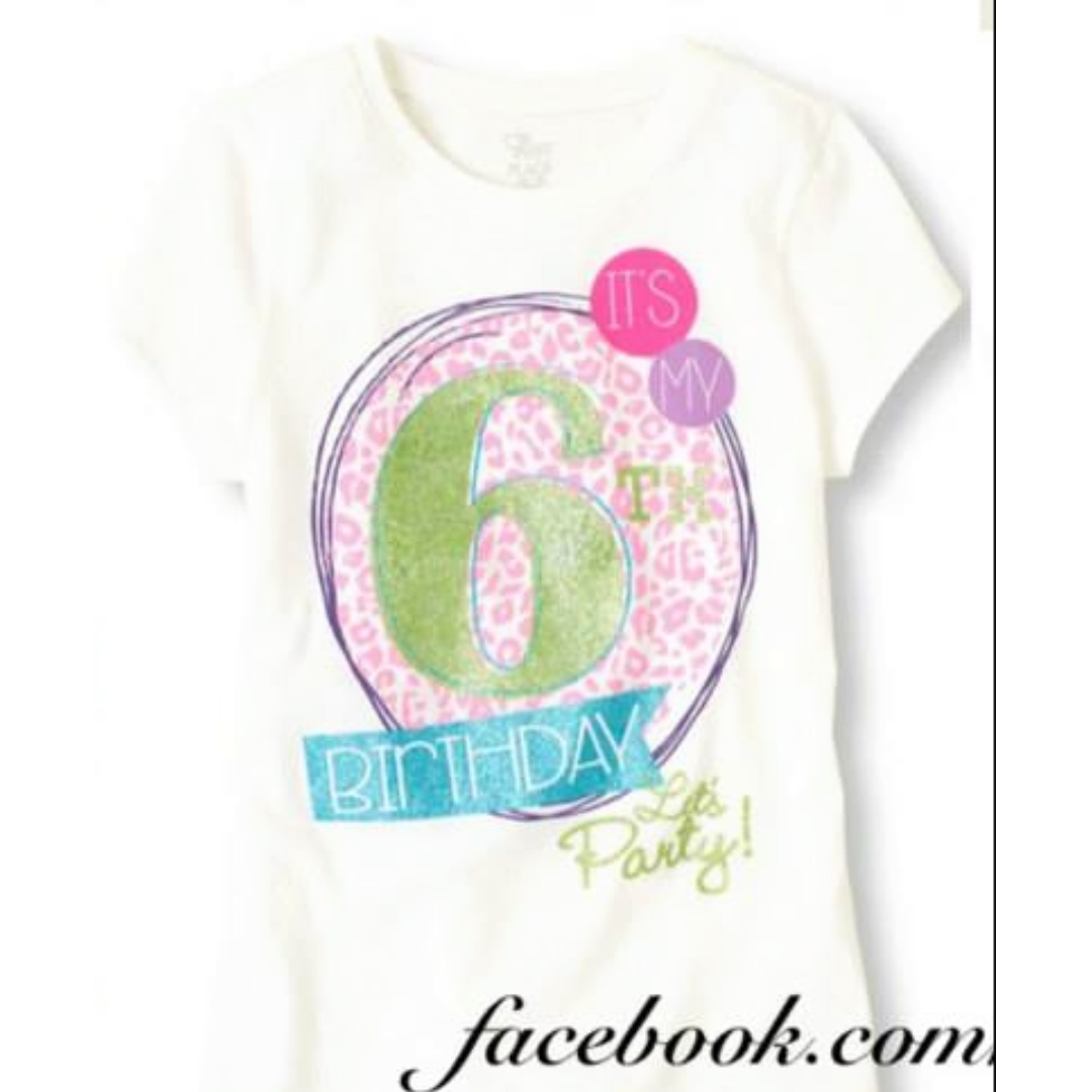 Girl 6th Birthday Graphic Tee 3 Babies Kids Girls Apparel On