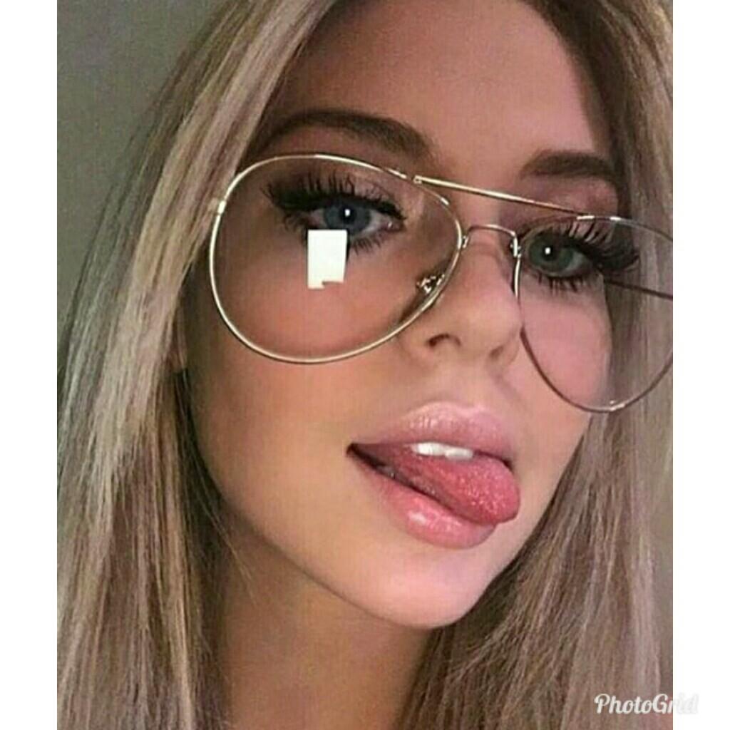 642254a368a gold aviator Glasses Clear lens Women vintage retro optical Frame eye  Glasses Men Myopia glasses with transparent glasses
