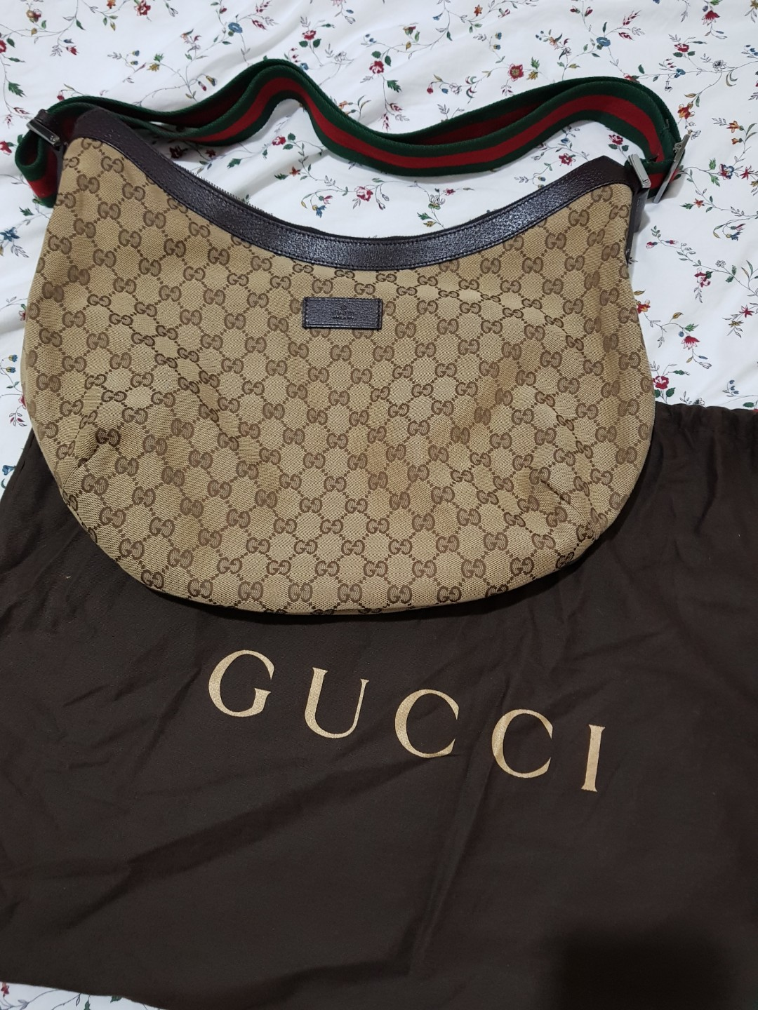 148bb9187c1a Gucci half moon sling bag, Luxury, Bags & Wallets on Carousell