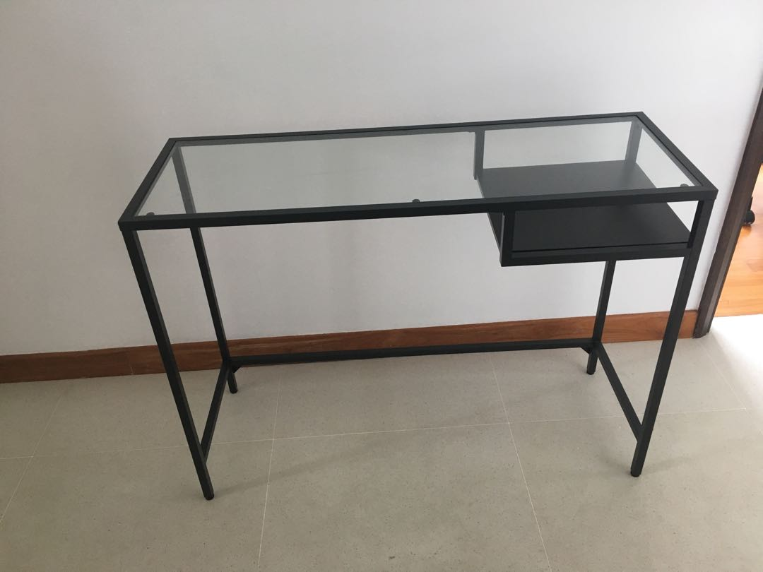 Ikea office desk furniture tables chairs on carousell