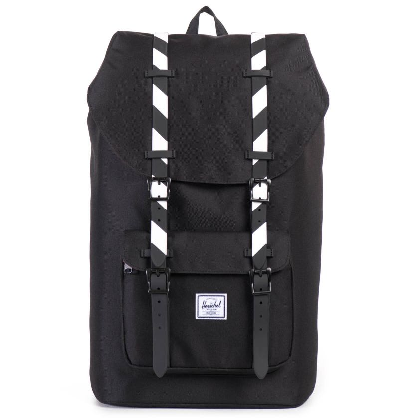 ea770fda6e5 Instock  Herschel Little America Black Black White Rubber (BACKPACK ...