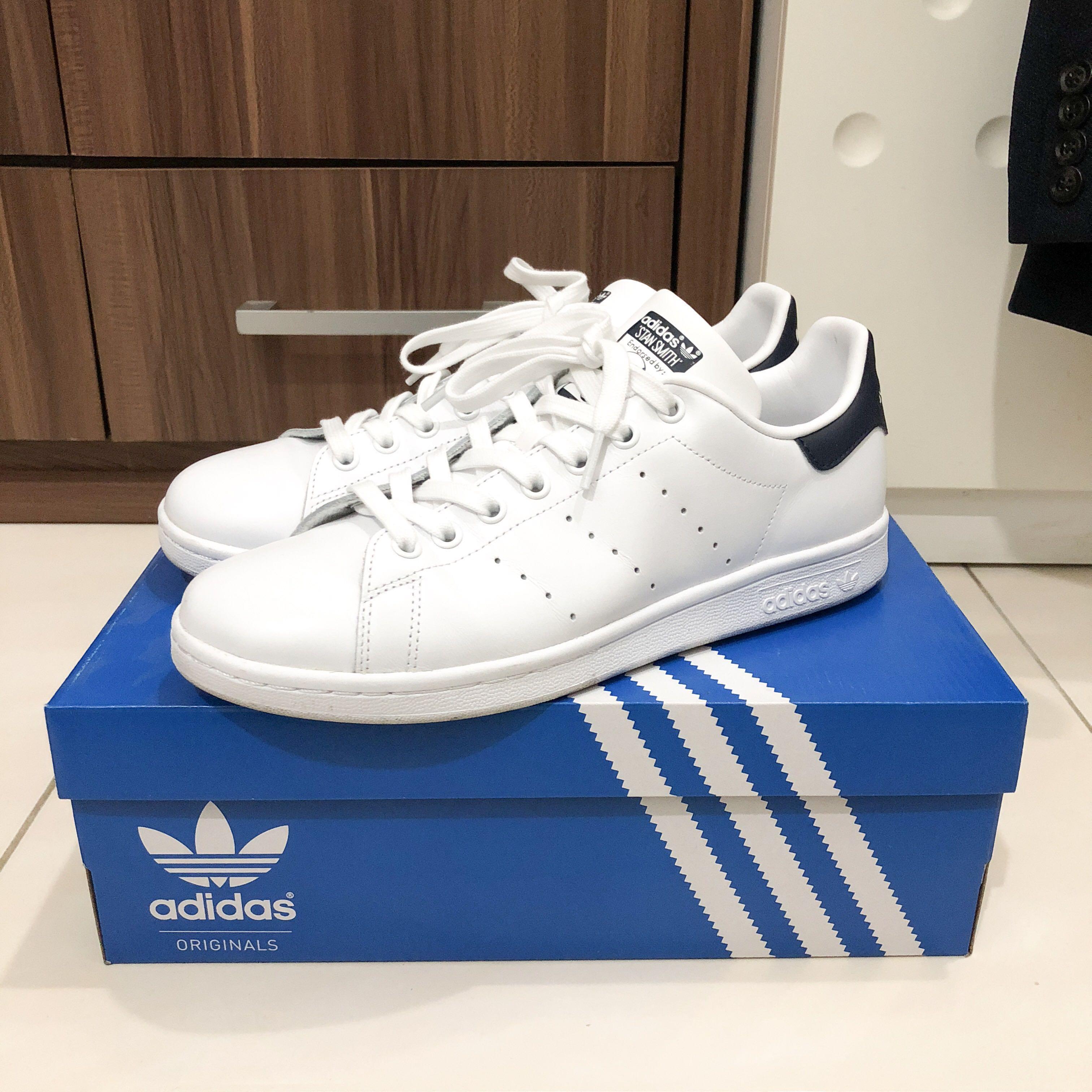 (JUAL CEPET) Adidas Stansmith Allwhite size US 8.5 LIKE NEW 7eb0467012