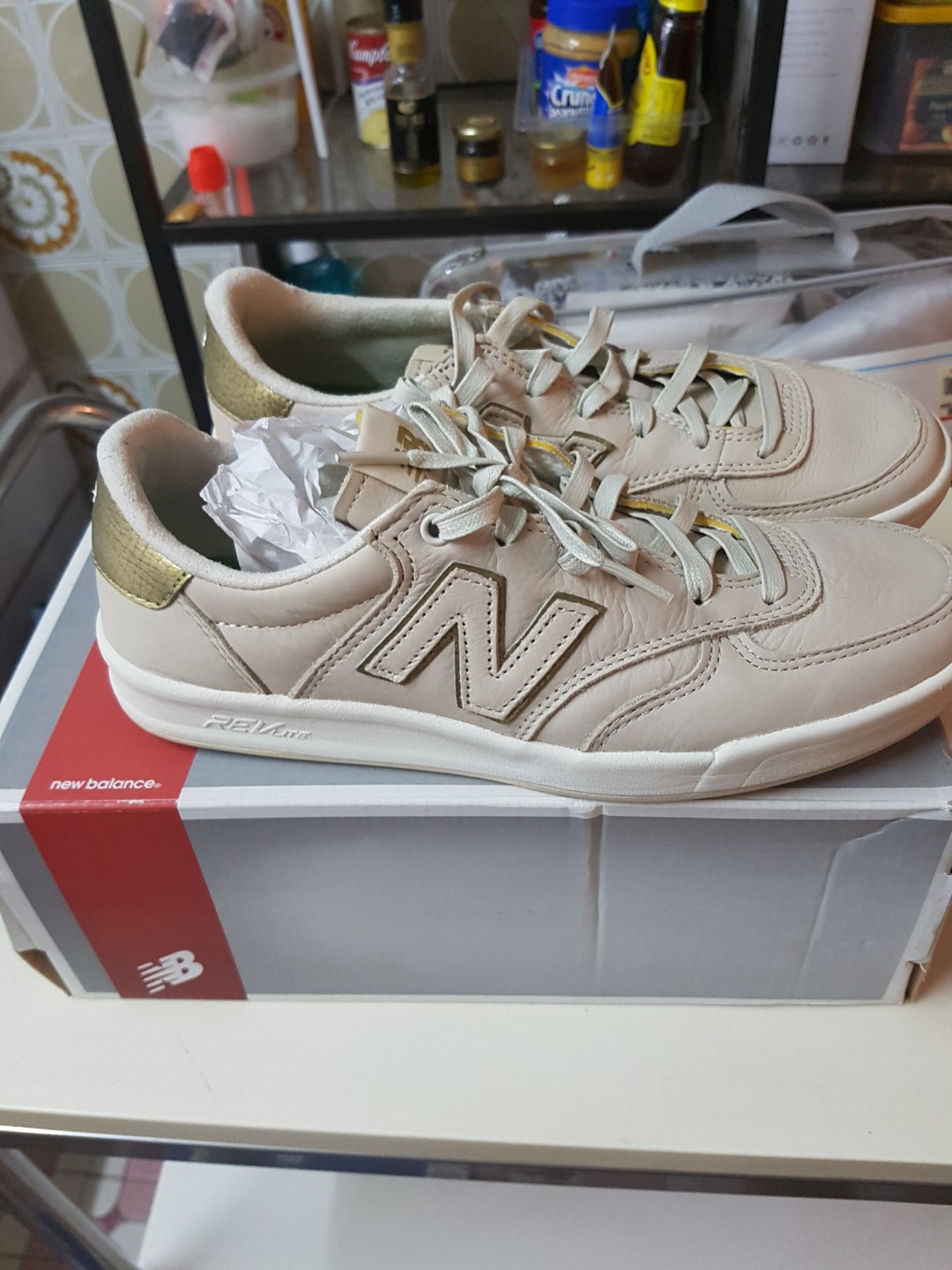 97b08ece32b5c new balance crt300 leather with gold ascent