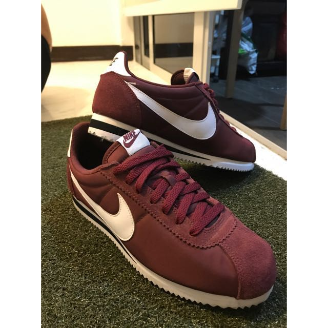 size 40 d9d62 bc1fc Nike classic cortez maroon red. Size UK 8.5 US 9.5