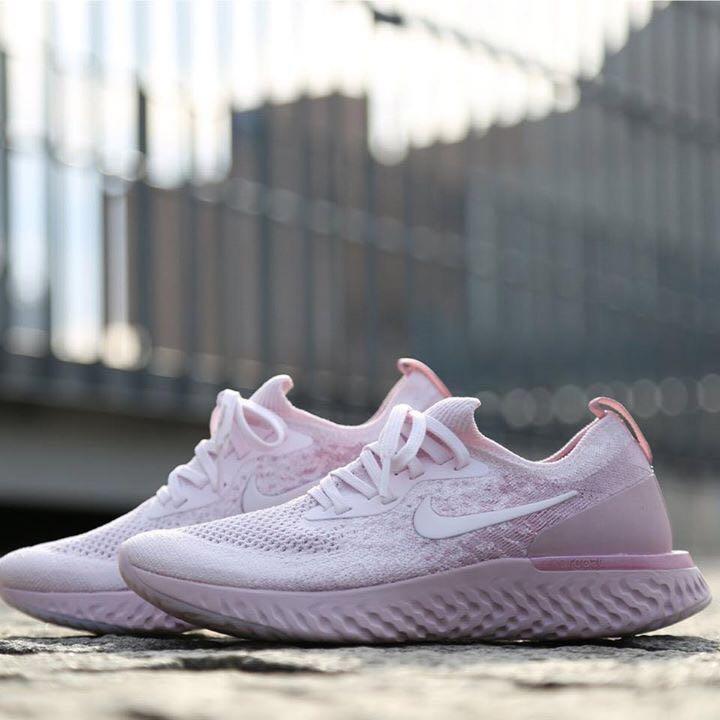 6c6831ba3683e  Nike Epic React Flyknit - Rose-Arctic Pink  AQ0070-600