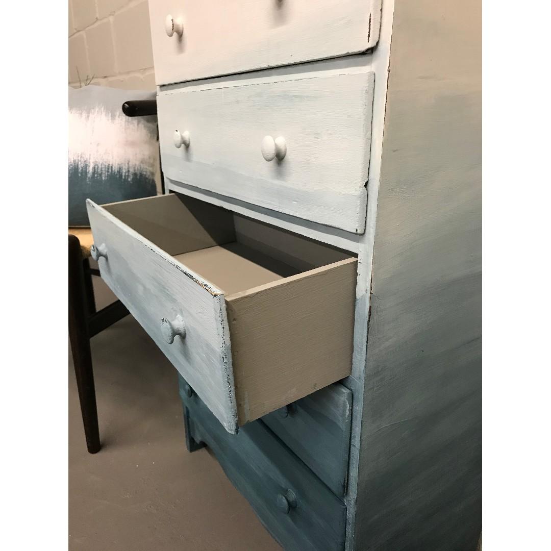 Ombre Vintage Dresser / Storage Cabinet / Childs Dresser