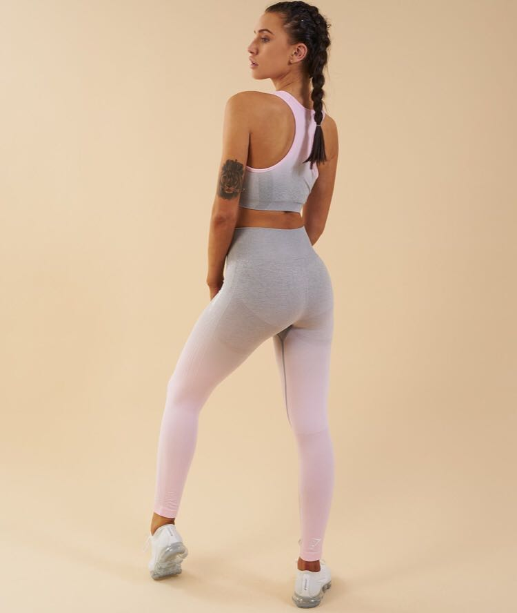2e46d67ac5 ️On Hand‼ Gymshark Ombre Seamless legging in Chalk Pink (size ...