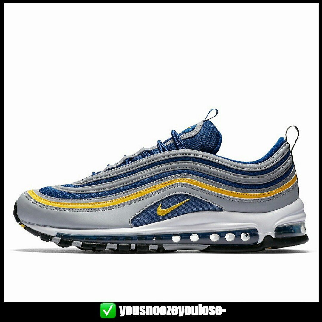 [PREORDER] NIKE AIR MAX 97 MICHIGAN WOLF GREY TOUR YELLOW BLUE
