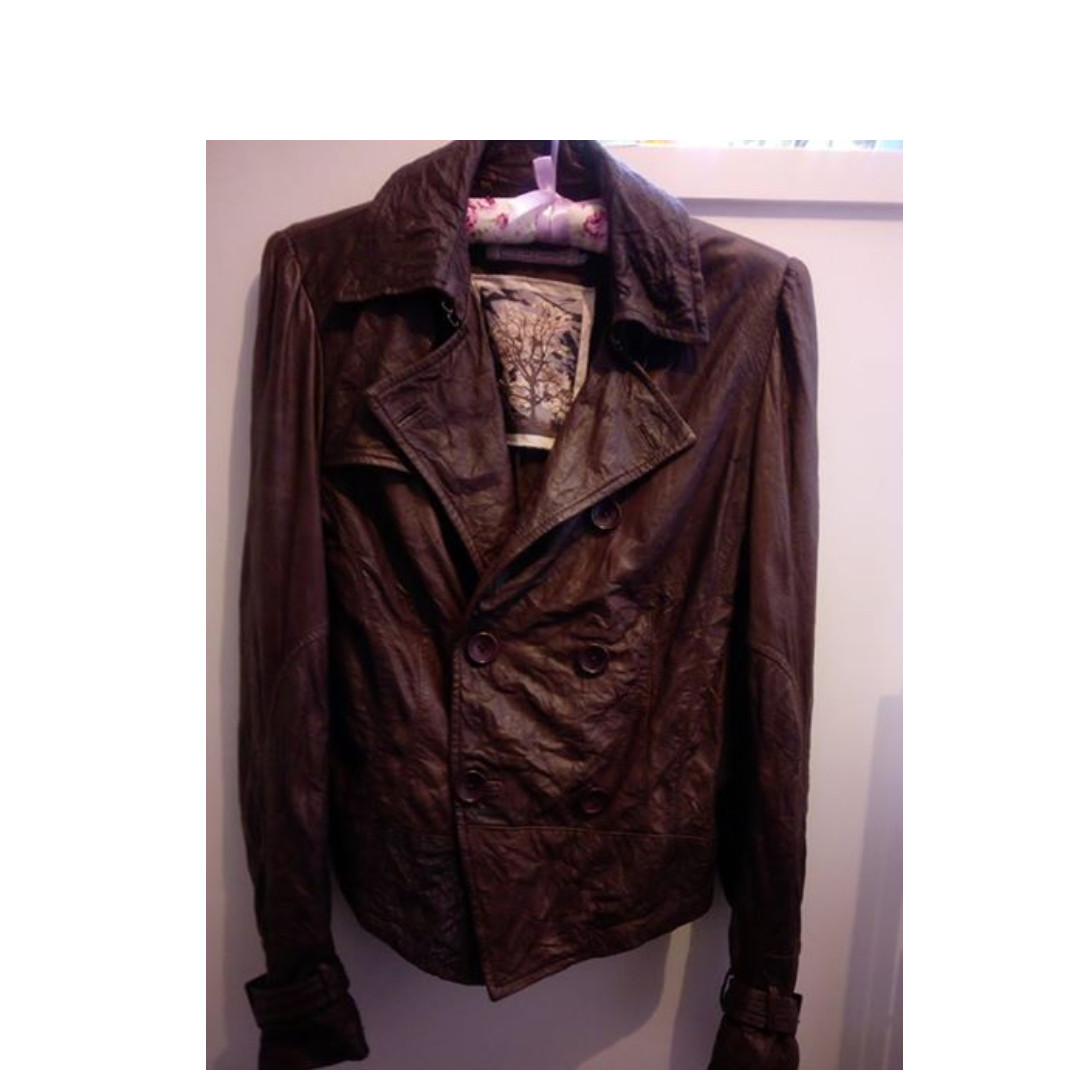 SIZE 8 - TRELISE COOPER BROWN LEATHER JACKET