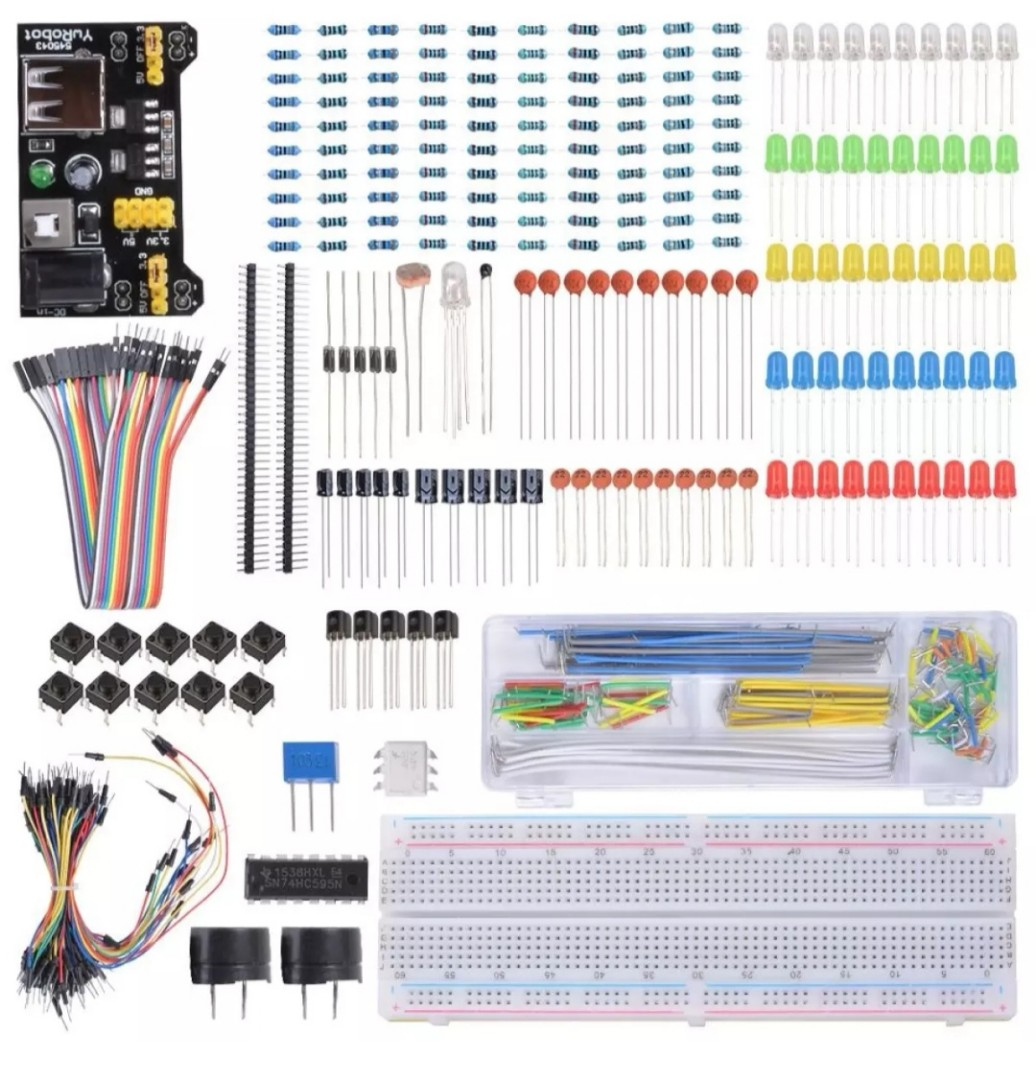 Starter Jumper Wire Learning Kit Breadboard Led For Raspberry Pi Wiring In Parallel Leds Photo