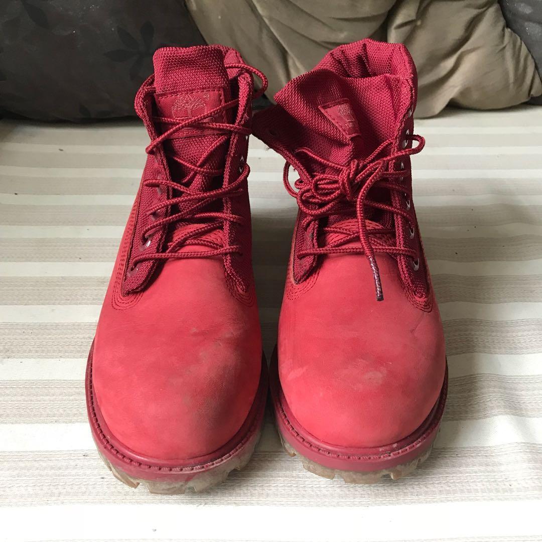 red suede timberlands