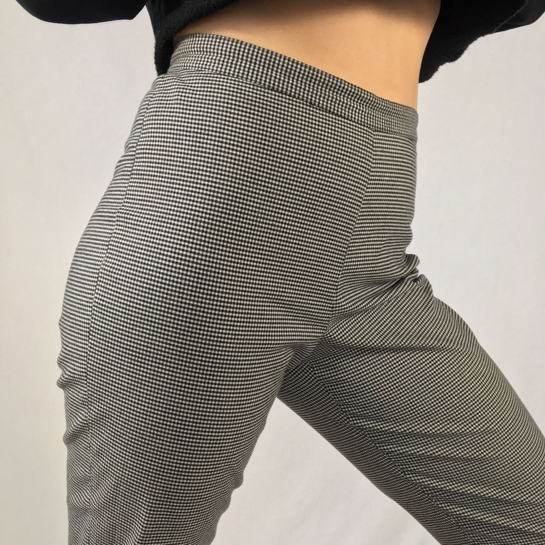 Vintage High Rise Gingham Trousers