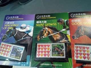 **只限郵寄**  Hkjc 香港賽馬會 紀念郵票 G1名駒共四款