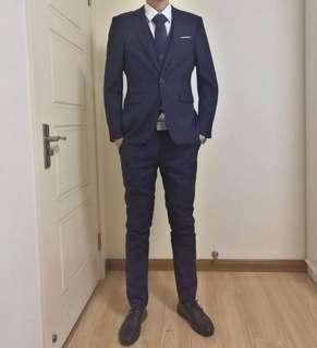 Men suit 度身訂造 高質 西裝 西褲 馬甲 恤衫