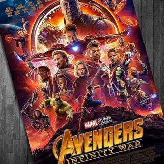 Infinity war main full sized poster