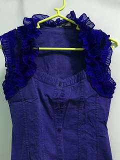 Purple Formal Fit Top