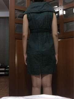 Dress Esdonna hijau tua