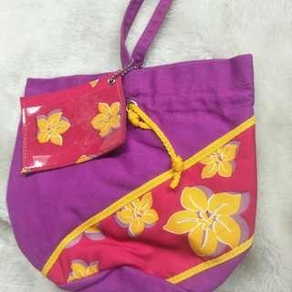 🚚 桐花粉紫小手袋