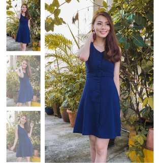 3inute Emory Buttons Down Dress in Navy