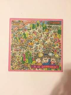 Sanrio vintage Rururugakuen Rururu Gakuen 手工紙 15x15cm 1992 絶版