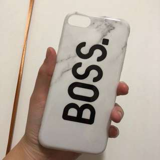 Iphone 7/8 phone case marble and boss