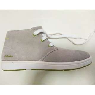 Clarks Boy Shoes: Rayan Hi Grey Suede Trainers (UK 13.5G)