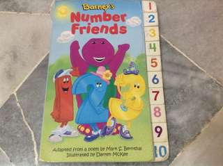 Barney number learning book #20under