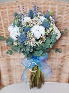 """Rustic Cotton"" Bridal Bouquet"
