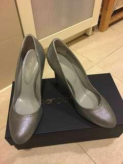 Sergio Rossi dark-silver heels