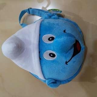 Smurf Doll and Bag